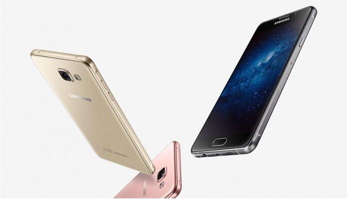Design do Galaxy A5 2016 segue o mesmo padrão dos outros aparelhos da Samsung (Foto: Divulgação/Samsung)