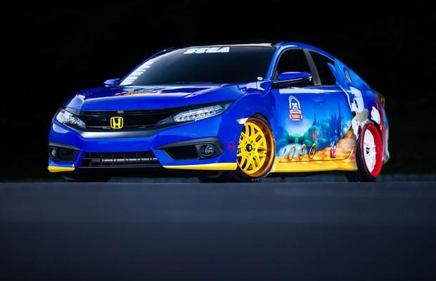 Honda Civic comemora os 25 anos do jogo Sonic (Foto: Divulgação)