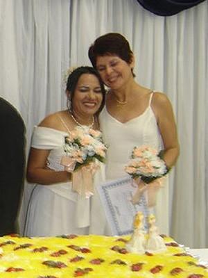 Imagem do casamento de Noemi Miranda e Susane Borges (Foto: Arquivo Pessoal)