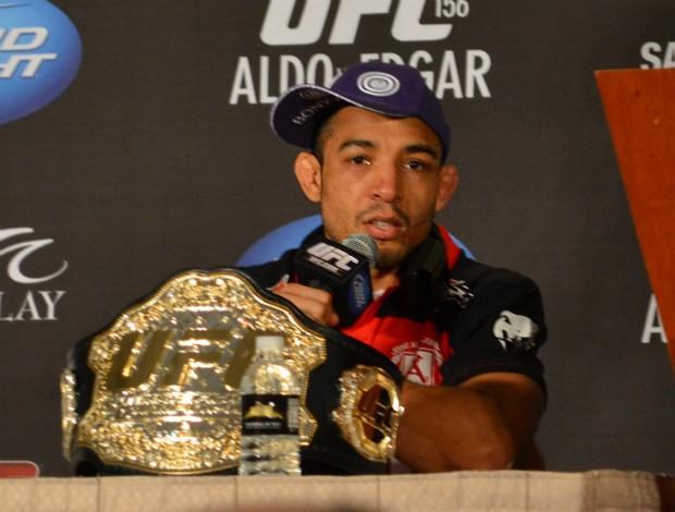 José Aldo coletiva (Foto: Adriano Albuquerque/ SporTV.com)