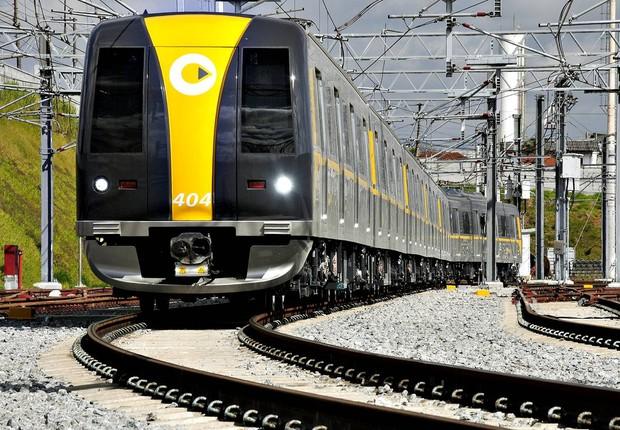 Trem da Linha 4-Amarela do Metrô de São Paulo (Foto: Divulgação)