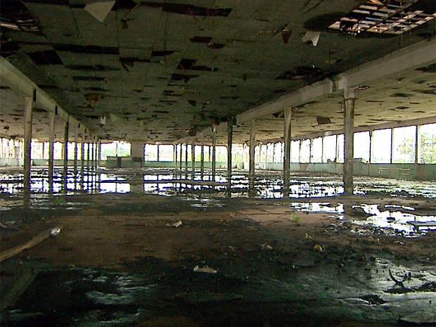Galpão da antiga fábrica de tecido Cianê Matarazzo em Ribeirão Preto, SP (Foto: Reprodução)