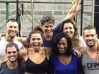 Reynaldo Gianecchini, Giovanna Antonelli e Glória Maria treinam juntos