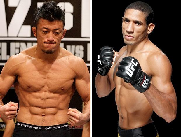 MONTAGEM - lutadores Tatsuya Kawajiri e Hacran Dias. (Foto: Agência Getty Images)