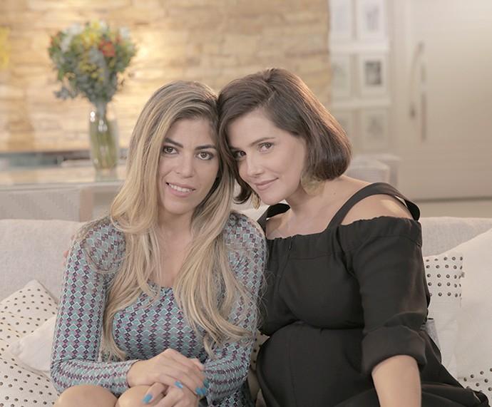 Raquel Pacheco faz revelaçõs à atriz Deborah Secco.  (Foto: Fábio Rocha / Gshow)