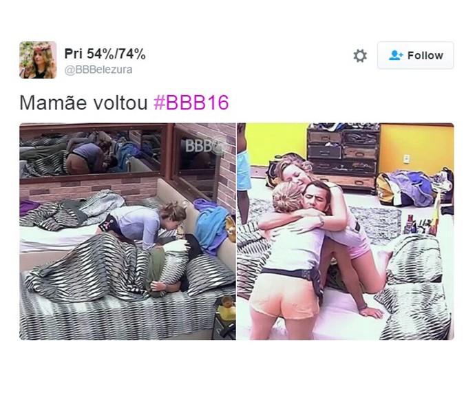 Ana volta ao BBB16 - 04 (Foto: Reprodução Internet)