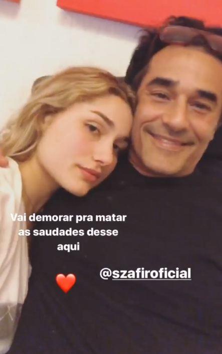 Luciano Szafir visita Sasha em Nova York (Foto: Reprodução/Instagram Stories)