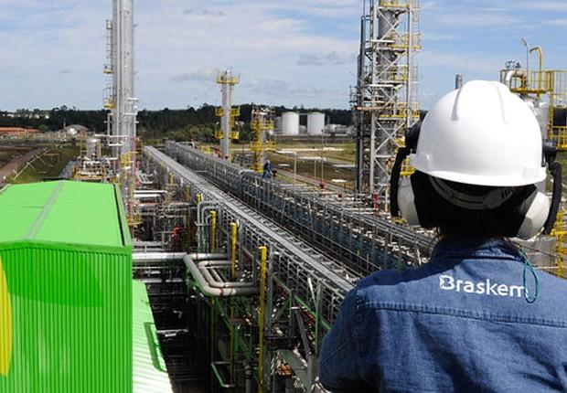 Unidade da empresa petroquímica Braskem (Foto: Divulgação)