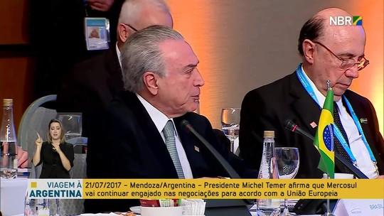 Mercosul reconhece 'ruptura' da democracia na Venezuela, diz Temer
