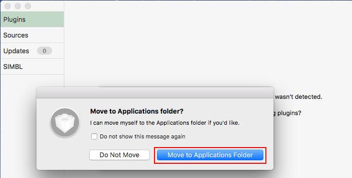 Movendo o mySIMBL para a pasta Aplicativos do macOS (Foto: Reprodução/Edivaldo Brito)