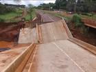 Chuva destrói estradas e prejudica o transporte em quatro estados do país
