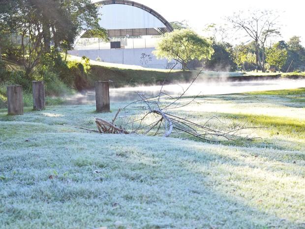 Telêmaco Borba, nos Campos Gerais, nesta manhã (Foto: Ivan Willian Primo/Arquivo pessoal)