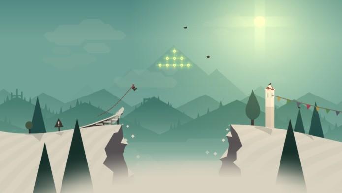 Seguindo o estilo Ski Safari, Altos adventure aposta nos gráficos para cativar o jogador (Foto: Divulgação)