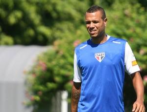 Luis Fabiano no treino do São Paulo (Foto: Anderson Rodrigues / Globoesporte.com)