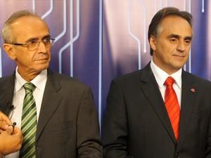 Luciano Cartaxo e Cícero Lucena (Foto: Montagem/G1)