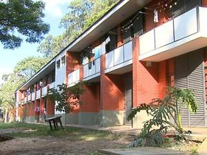 Alojamento do campus da USP de São Carlos (Foto: Paulo Chiari/EPTV)