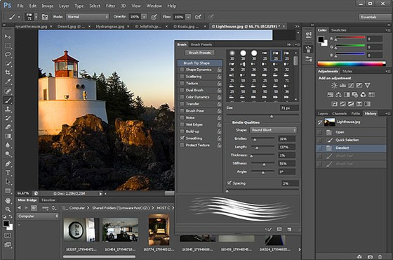 screenshot de Adobe Photoshop