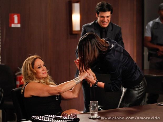 Pilar sai vitoriosa da audiência do divórcio (Foto: Pedro Curi/ TV Globo)