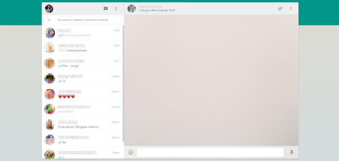 WhatsApp web tem interface fácil de usar (Foto: Reprodução/Barbara Mannara)