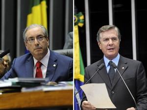 Cunha e Collor (Foto: Moreira Mariz/Agência Senado; J.Batista/Agência Câmara)