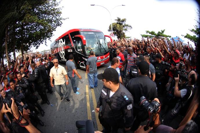 chegada do flamengo (Foto: Gilvan Souza - Divulgação, Flamengo)