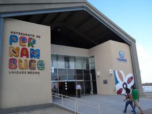 Centro de Artesanato de Pernambuco fica na Praça do Marco Zero, no Bairro do Recife (Foto: Luna Markman/G1)