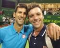 Derrotado por Djokovic, argentino nº 71 do mundo pede selfie ainda em quadra