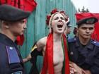 Manifestantes protestam contra reforma na aposentadoria na Ucrânia