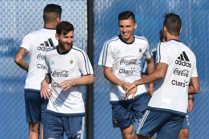 Messi treino Argentina Copa America (Foto: AFP)