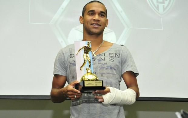 Badinho (Aracruz) foi eleito o melhor primeiro atacante do Campeonato Capixaba 2013 (Foto: Bruno Coelho)