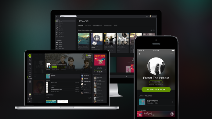 Spotify: serviço de streaming de música que chegou recentemente ao Brasil (Foto: Divulgação/Spotify)
