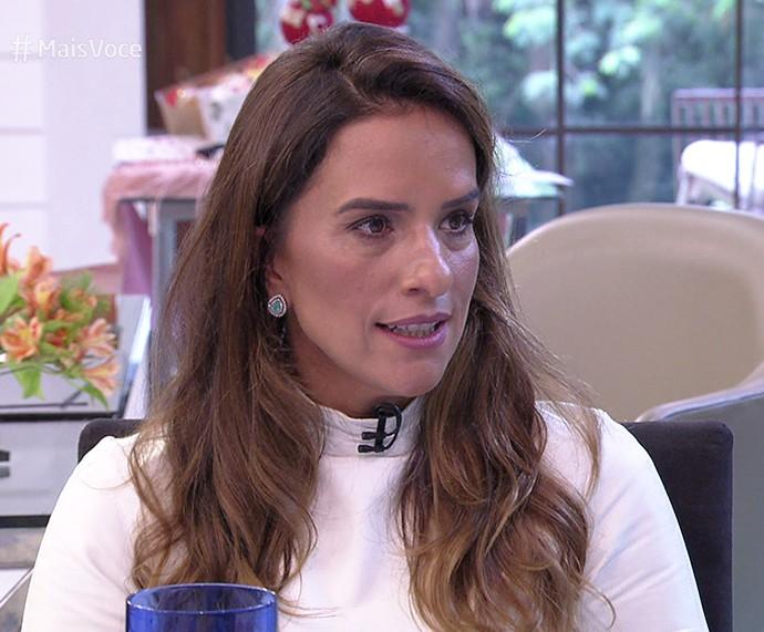 Daniela Alvarenga no 'Mais Você' (Foto: TV Globo)