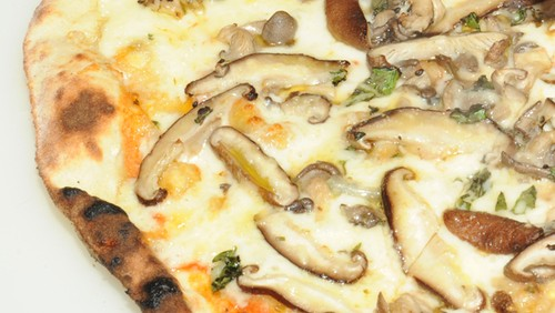 Pizza de shitake