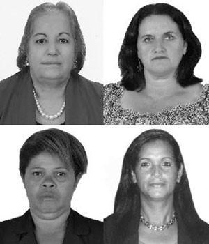 Josefina, Dalva, Célia e Suelane são donas de casa candidatas a vereadora em suas cidades (Foto: Reprodução/TSE)