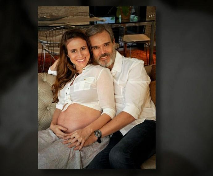 Dalton e Camila grávida (Foto: TV Globo)