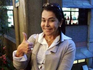 Guadalupe Mendonça, mulher de Dominguinhos, diz que o músico está se recuperando bem (Foto: Glauco Araújo/G1)