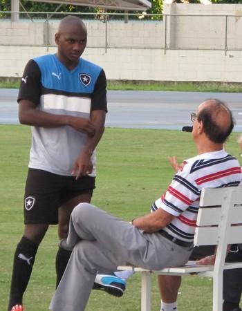 Sassá Antônio Lopes treino Botafogo (Foto: Gustavo Rotstein)