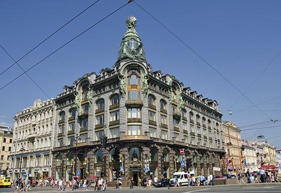 Na Avenida Nevsky,  a Casa Singer é um ícone da arquitetura Art Nouveau de São Petersburgo (Foto: © Haroldo Castro/ÉPOCA)