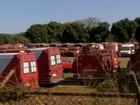 Vídeo mostra carros dos bombeiros do DF parados sem manutenção