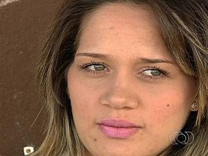 Guaciara Cristóvão de Sousa, operadora de call center ganhou indenização, em Goiânia (Foto: Reprodução/TV Anhanguera)