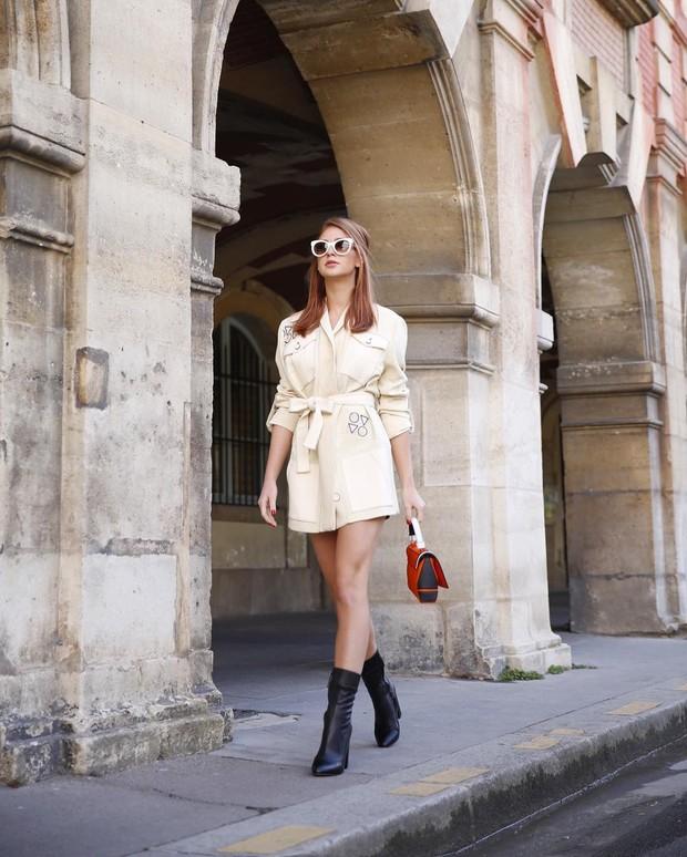 Look do dia: Marina Ruy Barbosa exibe pernas torneadas em look curtinho durante a semana de moda de Paris (Foto: Reprodução do Instagram)
