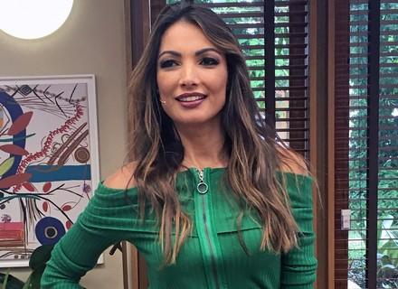 Patrícia Poeta arrasa com look em tons de verde no 'É de Casa'