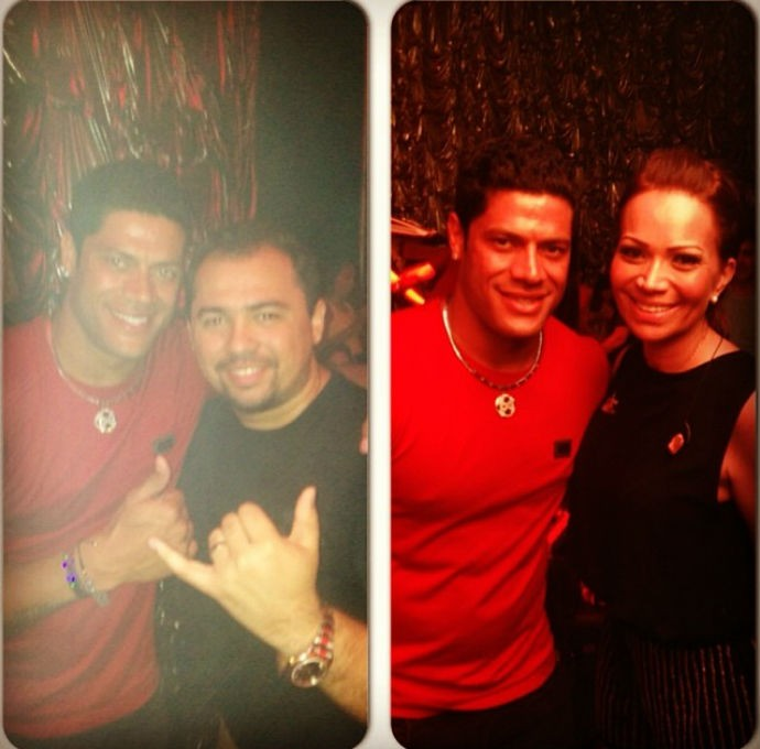Hulk com os vocalistas do Aviões do Forró (Foto: Reprodução/Instagram)