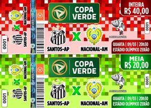 Infressos para Santos-AP e Nacional pela Copa Verde (Foto: Asscom Santos-AP)
