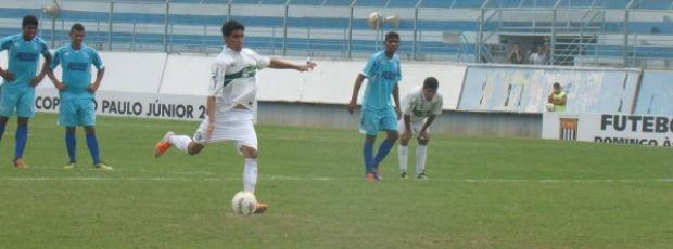 Denner converte o pênalti e garante a vitória do Coritiba sobre o Marília na Copa SP de Futebol Júnior (Foto: Diego Marinelli / Site oficial do Coritiba)