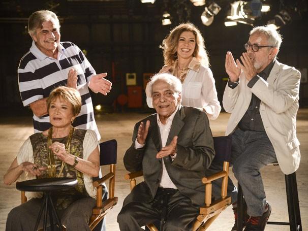 Time de estrelas da Globo: Tarcísio Meira,  (Foto: Raphael Dias / TV Globo)