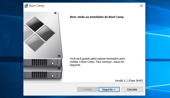 Utilitário de instalação de drivers do Mac (Foto: Reprodução/Helito Bijora)