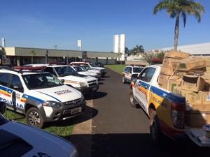 Prisão quadrilha Uberlândia (Foto: Arcênio Correa / G1)