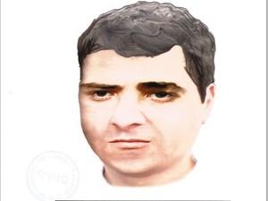 Novo retrato falado foi divulgado pela Polícia Civil (Foto: Divulgação / Polícia Civil)