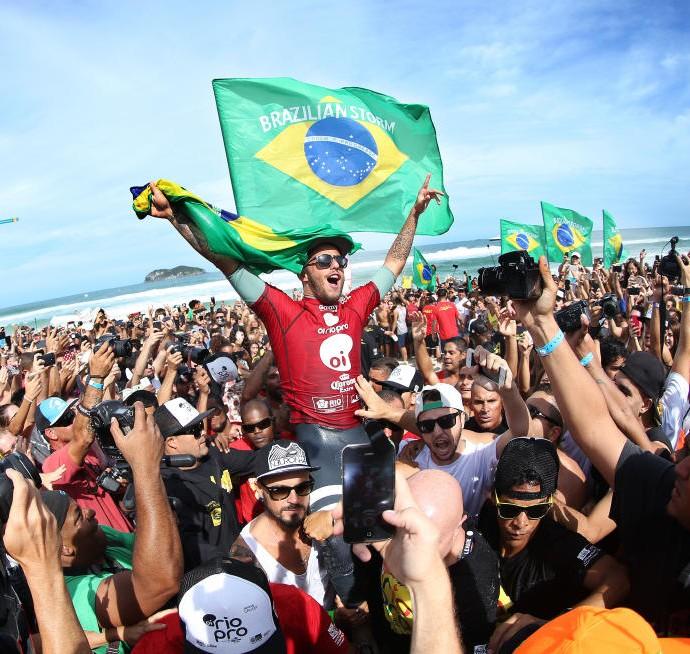 Filipe Toledo campeão do Rio Pro quarta etapa do Circuito Mundial de Surfe ni Rio de Janeiro (Foto: WSL / Kelly Cestari)